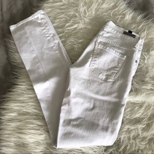 Citizens of Humanity AVA Straight Leg White Jeans